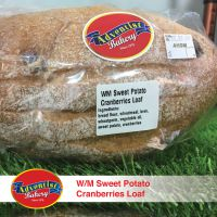 Adventist Bread Wholemeal  Sweet Potato Cranberries Loaf